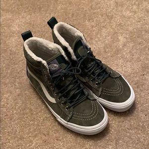 Vans Green SK8-Hi High Top Sneakers